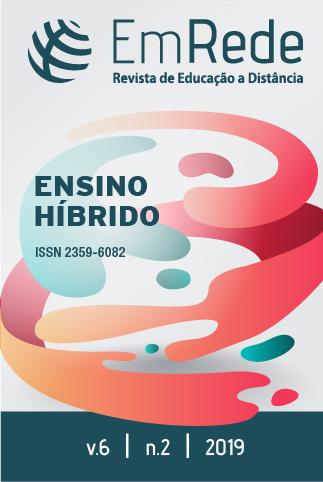 Capa da Revista EmRede, v.6, n.2 2019 sobre Ensino Híbrido