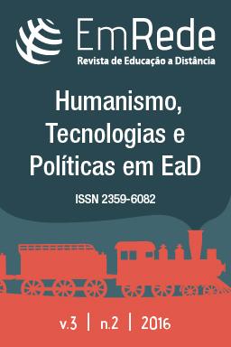 Imagem da capa da Revista EmRede v.3, n.2 com os temas do ESUD2016