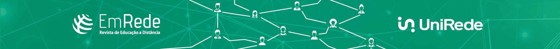 Imagem com o logo da revista EmRede - Revsta da Educação a Distância, representando uma rede através da conexão de várias pessoas.